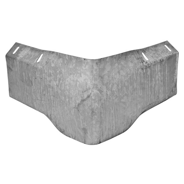 armco case study Bolt down armco barrier post, holed once to accept a single beam hot dip  galvanised 127x76 ub steel upright welded to 330x250x12 base-plate with a  rear.