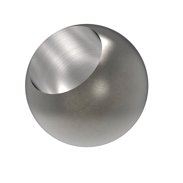 20mm Mild Steel Ball Half Drilled To Fit 12mm Bar F H