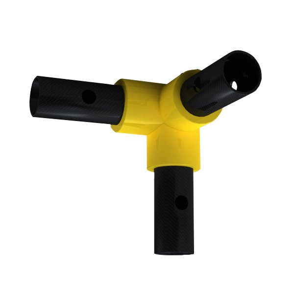 Way elbow yellow warmagrip fitting f h brundle