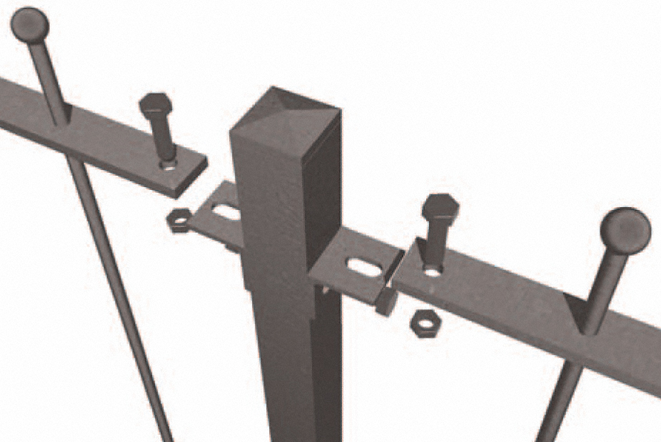 2 x 40mm ANGLE CLEATS GALVANISED FENCING PANELS POSTS CLEATS