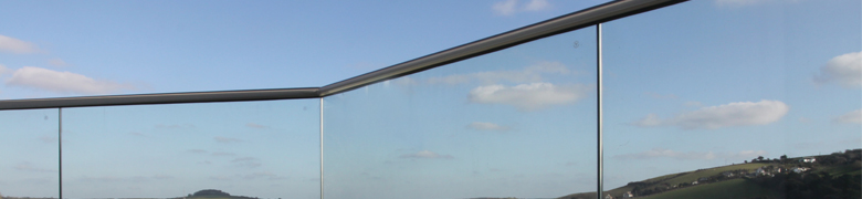 Glass Balustrade with Spit Tube Top Rail