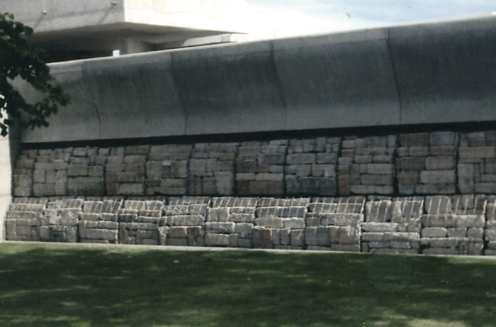 Scottish Parliament Gabion Mesh