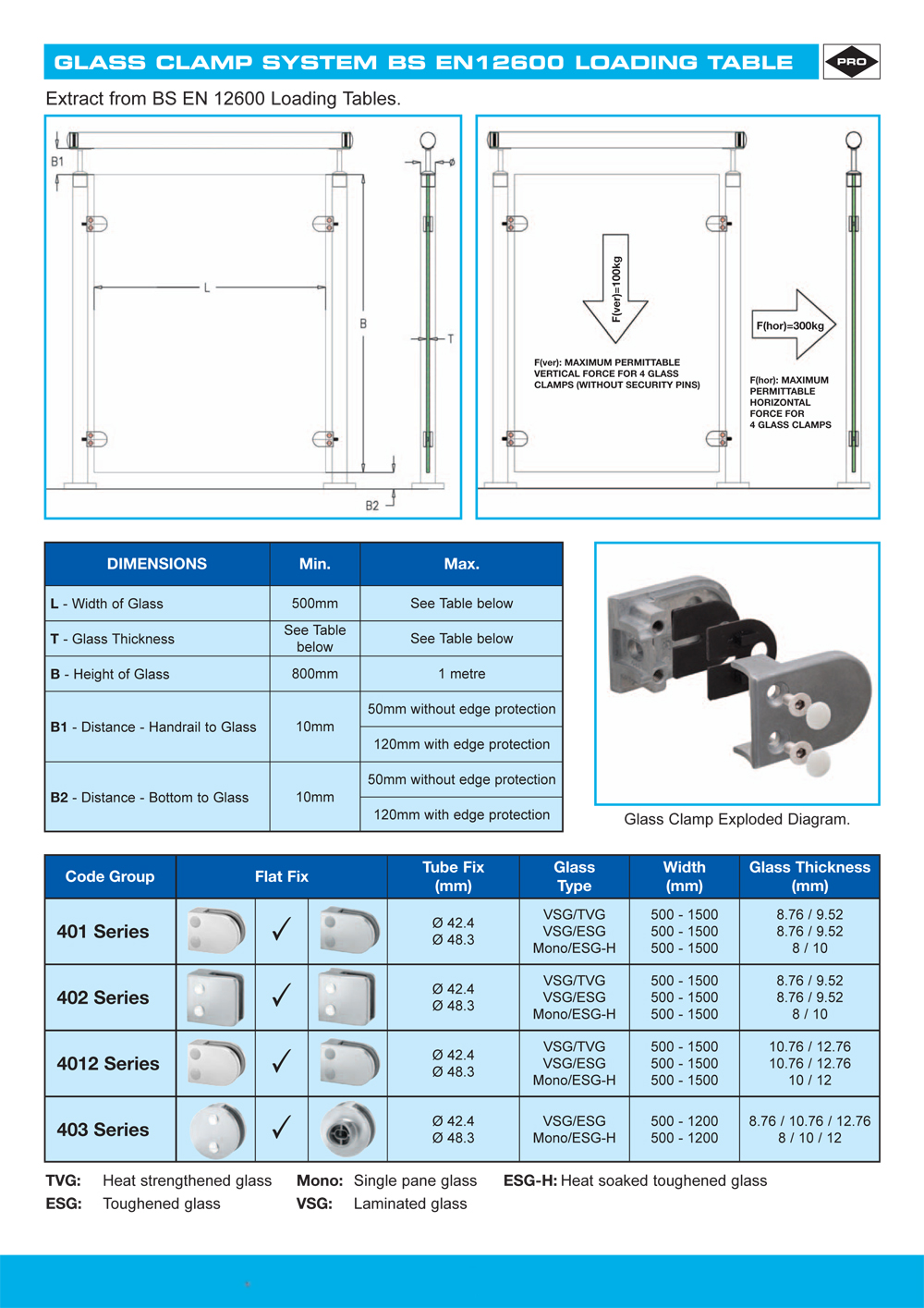 Handrail & Components | Glass Clamps - F H Brundle