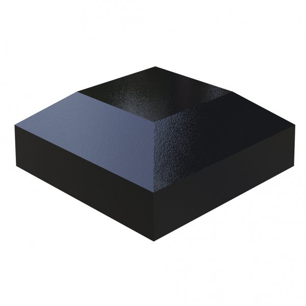 Aluminium Post Cap 50 x 50mm for Posts Powder Coated Black